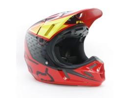 Мотошлем кроссовый FOX V4 REED OUTDOOR REPLICA helmet красно-черный