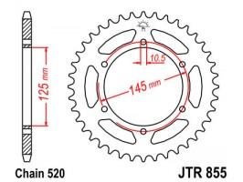 Звезда задняя Sunstar 1-3541-45 для Yamaha XT660