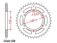Звезда задняя Sunstar для Yamaha XJ600 Diversion