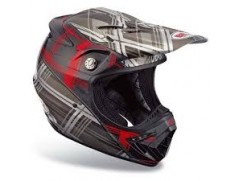 Мотошлем Moto-8 Plaid Red/Black
