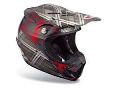 Мотошлем Moto-8 Plaid Red/Black