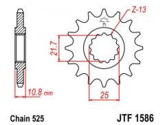 Звезда передняя JT JTF 1586.15