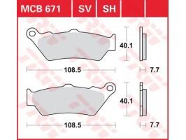 Тормозные колодки TRW LUCAS MCB671SV