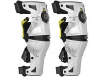 Ортопедические шарнирные мотонаколенники Mobius X8 WHITE/ACID YELLOW