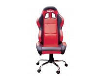Кресло Ducati красное с черными элементами