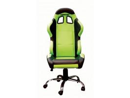 Кресло Kawasaki зеленое с черными элементами