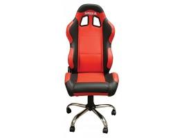 Кресло Aprilia красное с черными элементами