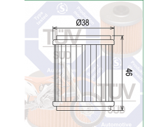 Фильтр масляный Filtrex OIF031 Yamaha.