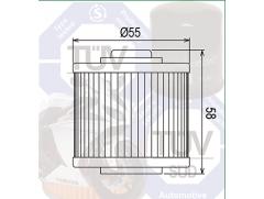 Масляный фильтр для квадроцикла Yamaha YFM700R Raptor