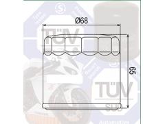 Фильтр масляный Filtrex OIF025 Triumph.