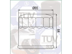 Фильтр масляный Filtrex OIF024 Honda, Kawasaki, Yamaha.