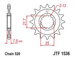 Звезда передняя для Kawasaki ZX-R6 Ninja (07-15)