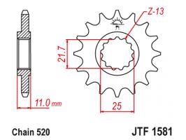 Звезда передняя Yamaha FZ6/Fazer/YZF-R6