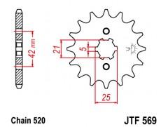 Звезда передняя JT JTF569.14