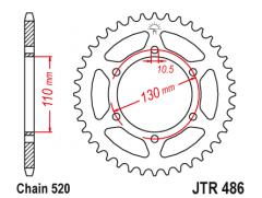 Звезда передняя JTF 486.43
