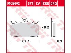 Тормозные колодки синтетические TRW LUCAS MCB602SV