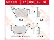 Тормозные колодки  TRW LUCAS MCB672EC
