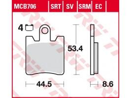 Тормозные колодки  TRW LUCAS MCB706SV