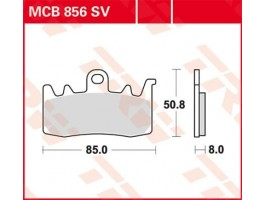 Тормозные колодки TRW LUCAS для BMW R1200, Ducati HYM, Monster, Aprilia Capanord, RSV4 синтетические