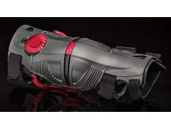 Ортопедические шарнирные мотонаколенники Mobius X8  STORM GREY/CRIMSON