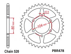 Звезда задняя PBR478.43