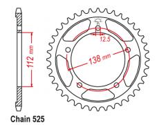 Звезда задняя Sunstar 1-4483-43