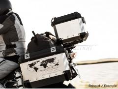 Светоотражающие наклейки на мотокофр черно-серебристые