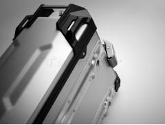 Алюминиевый мотокофр TraX ADVENTUREсеребристый 45л (левый)