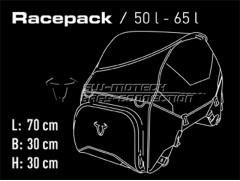 Мотосумка задняя Racepack 50-65л.