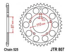 Звезда задняя JTR807-47