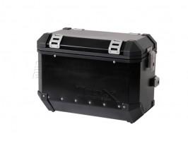 Алюминиевый мотокофр TraX 45 л черный (правый)