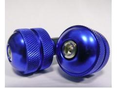 Грузики руля ROUND фрезерованные синие