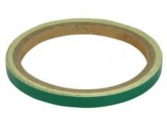 Декоративная клеющаяся полоса светоотражающая зеленая
