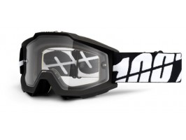 Мото очки 100% ACCURI Moto Goggle Black Enduro- прозрачная линза