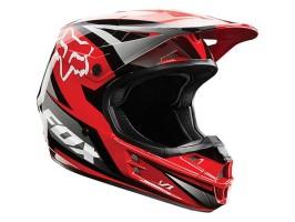 Мотошлем кроссовый FOX V1 RACE ECE красный