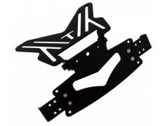 Рамка для номера металическая короткая