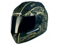 Мотошлем MARUSHIN 888 Shivan Dragon, черно-золотой мат., p.L