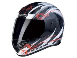 Шлем MARUSHIN 999 RS ET Carat, чернo-бело-красный, p.XL