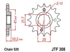 Звезда передняя JTF 308.15