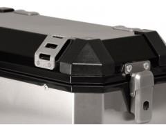 Алюминиевый мотокофр TraX серебристый 37л (левый)