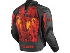 Мотокуртка Icon - 7th Seal Arc, р. М, кожа/текстиль, чёрно-красный
