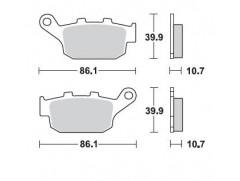 Тормозные колодки полусинтетические BRAKING 711SM1