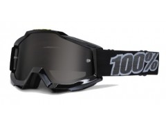 Мото очки 100% ACCURI Moto Goggle Black SAND- серая линза
