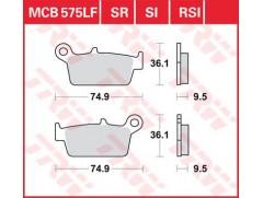 Тормозные колодки TRW LUCAS MCB575 Honda XR, Kawasaki KLX, Suzuki DR-Z400