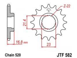 Звезда передняя JTF 582.16