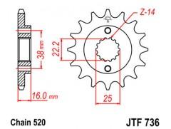Звезда передняя JTF 736.15