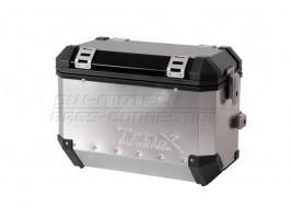 Алюминиевый мотокофр TraX серебристый 45 л (левый)