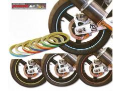 Декоративная клеющаяся полоса для мотоцикла и шин 7мм (желтая)