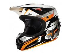 Мотошлем детский кроссовый FOX  V1 COSTA ECE оранжевый