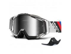 Мотоочки 100% RACECRAFT Goggle Slant Carbon  Mirror Silver Lens